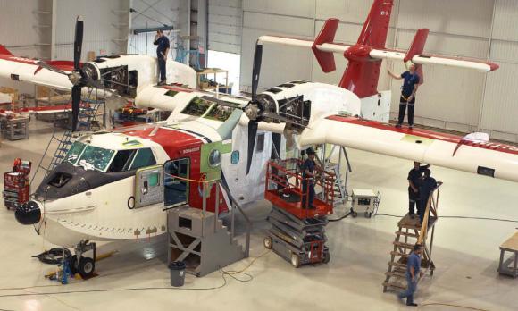 CL 415 in Provincial Aerospace Hangar