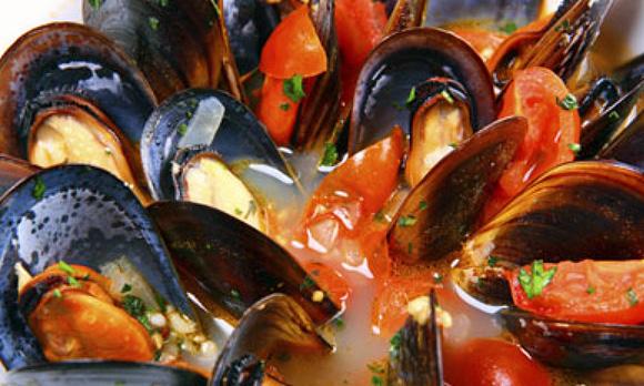 mussels in the corner