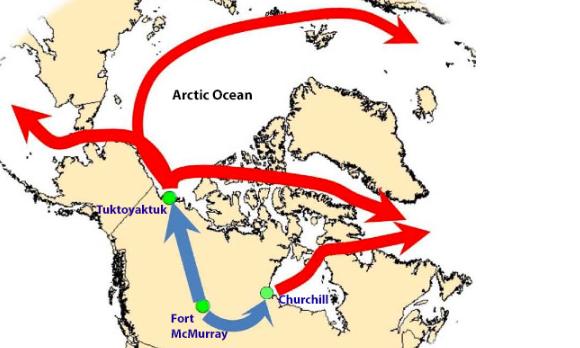 TARSANDS arctic route