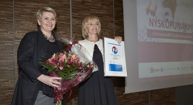 ragnheidur elin and agusta gudmundsdottir zymetech 2015 innovation prize